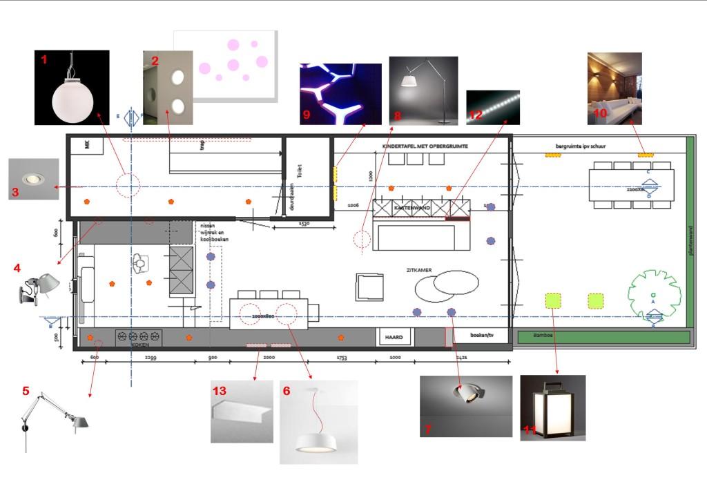 Voorbeeld Lichtplan Woonkamer. Latest Houtkachel Met Bij De Erker ...