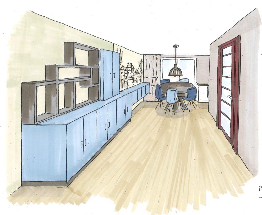 Speciaal Lichtplan Woonkamer : Interieurontwerp en realisatie woonkamer en hal via andrea